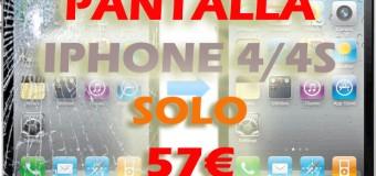 Reparación Pantalla de iPhone 4/4s en toda España